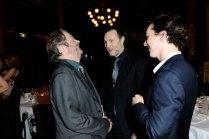 Actors Roger Allam, David Morrissey and Benedict Cumberbatch