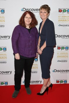 Sally Wainwright (left) was a runaway winner of the BPG writer's award for Last Tango in Halifax and Happy Valley, both on BBC One