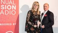 Emma Barnet, winner Radio Broadcaster of the Year, and Torin Douglas