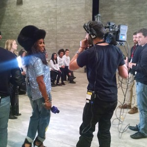 Live Video Production Interview New York Fashion Week Lincoln Center