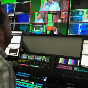 Roman close up control room