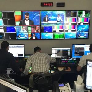 Wide shot control room