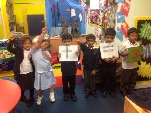 Making number sentences and learning symbols