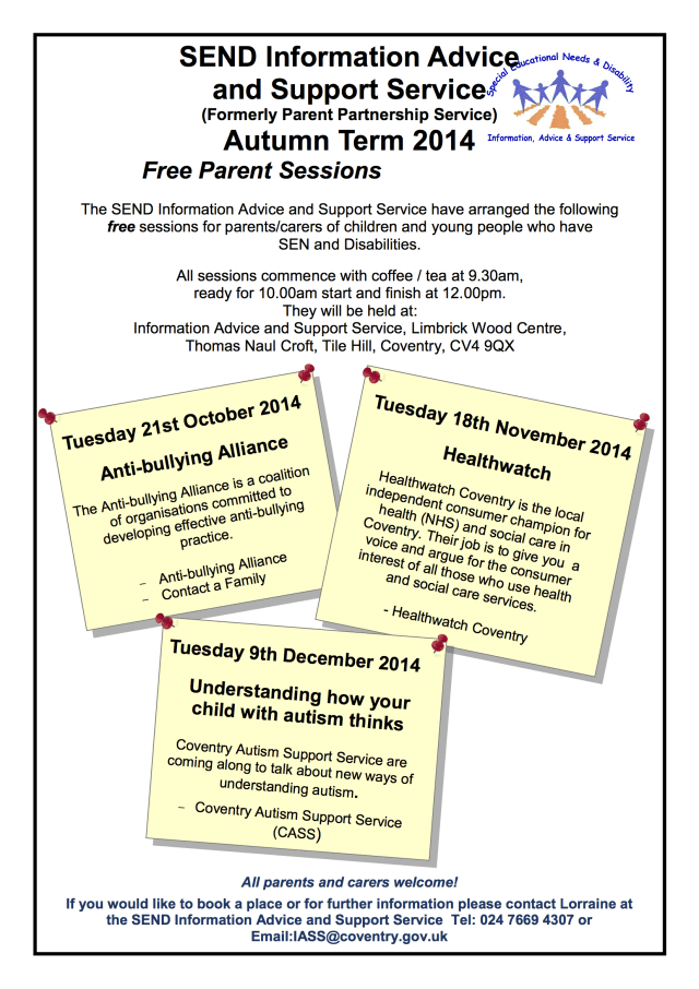 PPS Free Parent sessions oct noc dec 2014