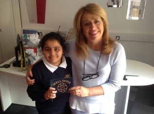"Nidhi was awarded a ""Well Done"" post card from Mrs Frankish which was sent home and Year 4 White were awarded a ""Learning Brick""."