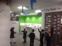 Great numbers on the ceiling near Year 5.