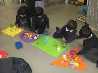 We sorted shapes