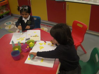 We sorted shapes in our books