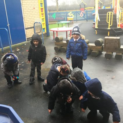 Some of us had great fun acting out the rhyme outside.
