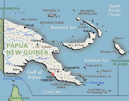 Map Of Papua New Guinea Broad Heath Primary School - Papua new guinea map