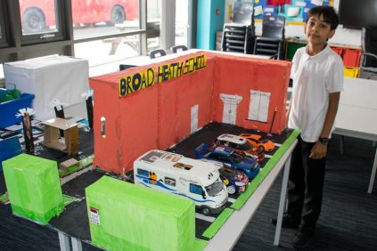 Dylan Chand's amazing model of our school!