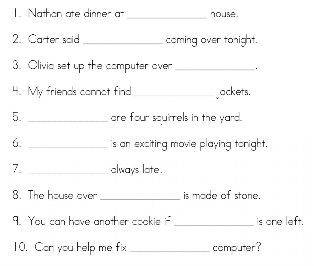 Grammar Year 4 Worksheet