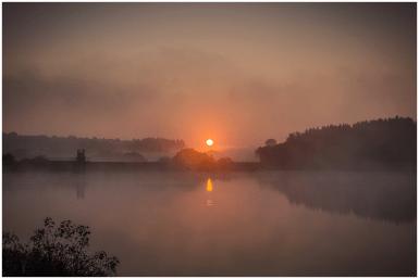 03|10|2014 – Sonnenaufgang an der Driedorfer Talsperre