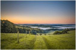 September: Morgen über dem Nistertal