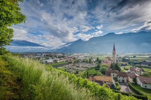 13|05|2016 – Hinreise: Blick auf Lana in Südtirol