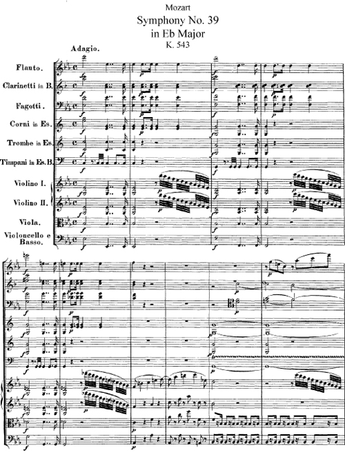 an examination of mozarts symphony no 39 in e flat Mozart: symphony no 39 symphony no 39 in e flat major, k543 (1788)   examining the life and works of wolfgang amadeus mozart.