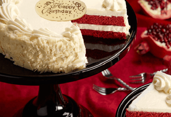 Red Velvet Chocolate And Cream Cheese Frosting Birthday Cake By