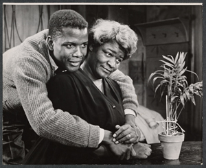 Sidney Poitier and Claudia McNeil (Friedman-Abeles/New York Public Library)