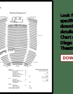 Detailed seating chart also balboa theatre broadway san diego rh broadwaysd