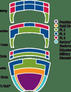 Theatre seating chart also san diego civic broadway rh broadwaysd