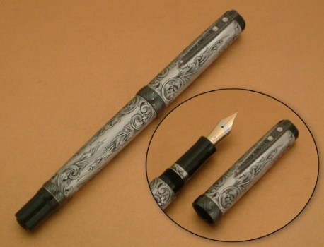 Engraved Titanium Fountain Pen