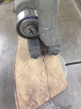 Sawing out handle shape