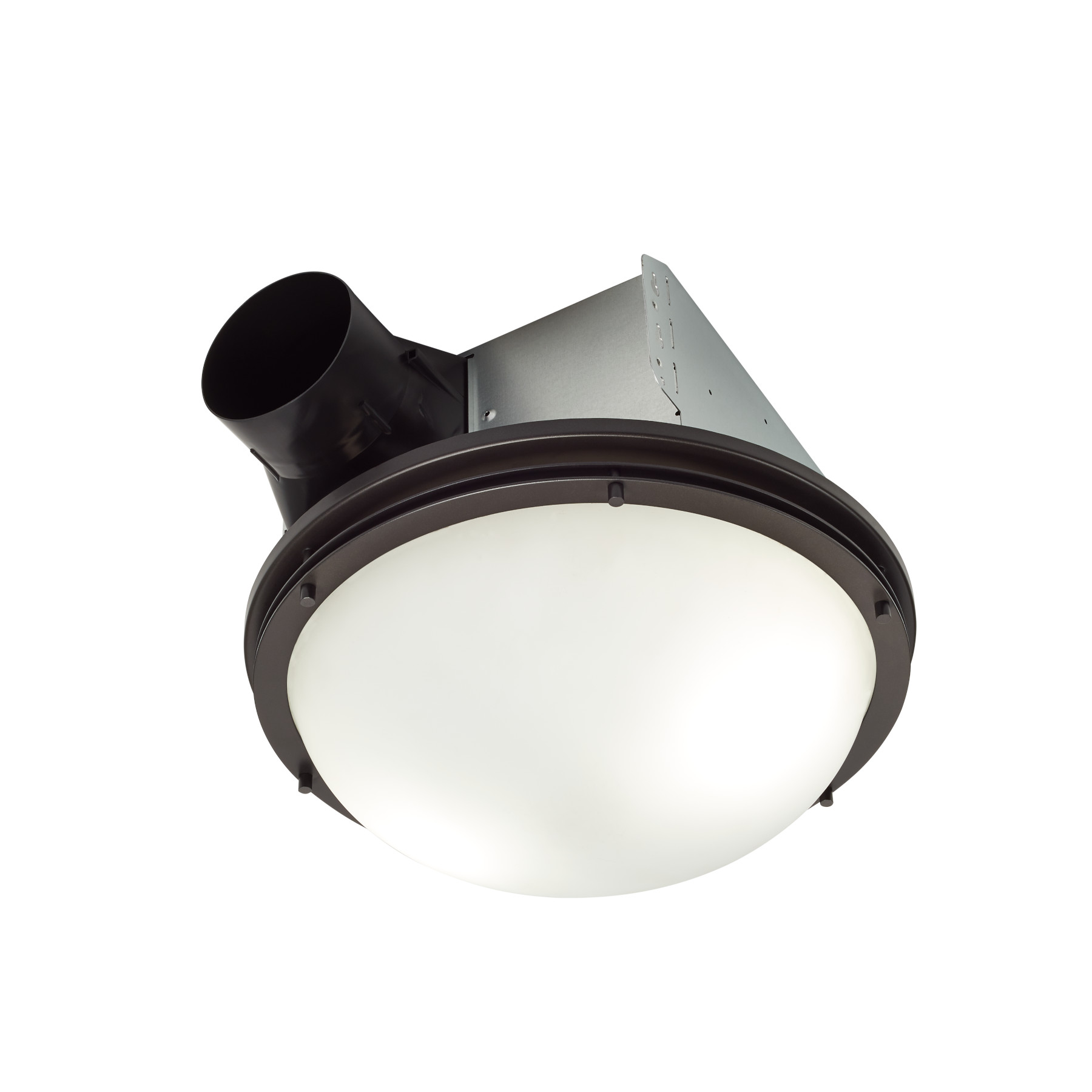 decorative oil rubbed bronze 80 cfm roomside installation bathroom exhaust fan w light and white globe