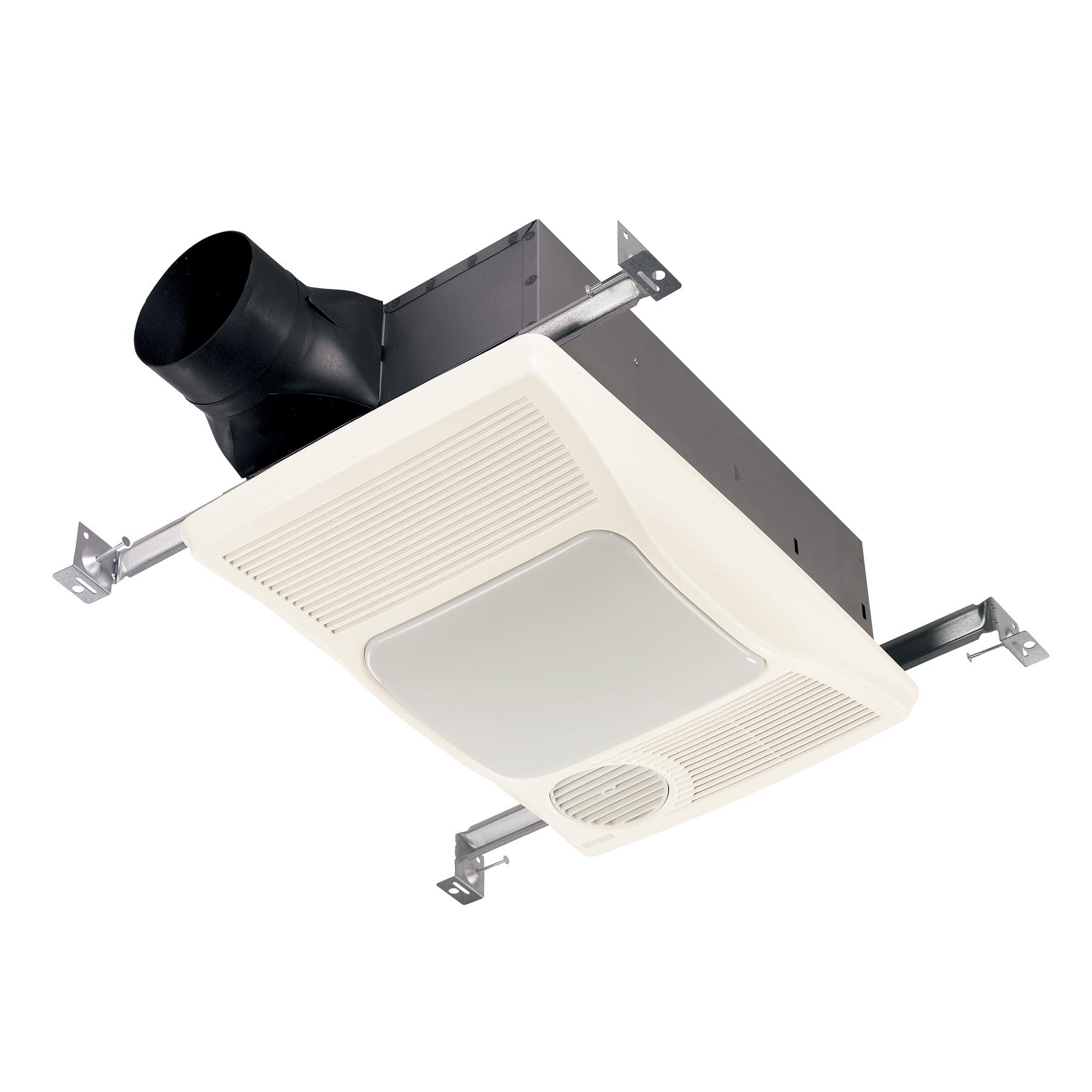 broan 110 cfm bathroom exhaust fan w heater and light 2 0 sones