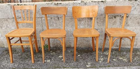 chaises bistrot vintage en bois