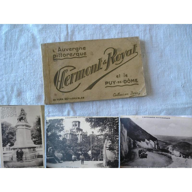 Dpliant De Cartes Postales Anciennes CLERMONT ROYAT