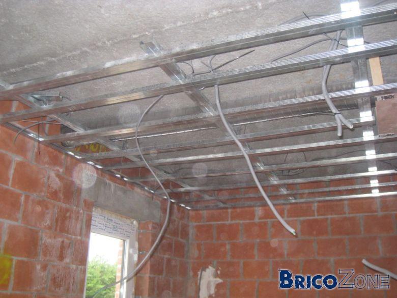 Plafond suspendu autoportant  Maison  Travaux