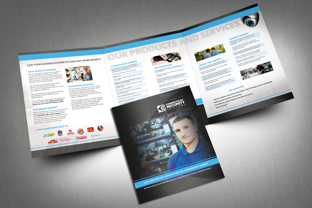 Before And After Security Company Brochure Design Company