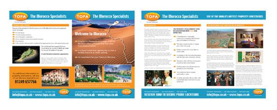 Morocco Property Development Brochure Design 4 Page A5 Folded