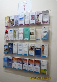 wall mount brochure holder, DL brochure display,DL wall
