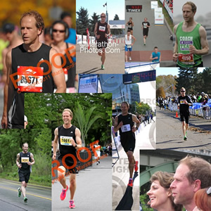 Collage of photos from my 2011 races