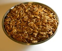 pecans in stainless bowl