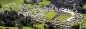 Looking down on Grasmere Sports Field, 10 minutes walk from Brockstone Cottage