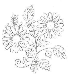 modèle broderie fleur gratuit