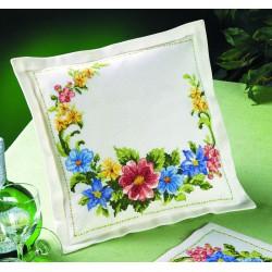 coussin fleurs de printemps 83 2129