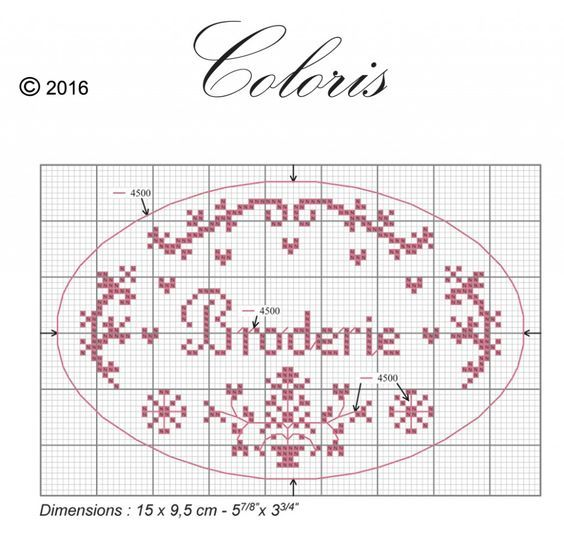 broderie diagramme