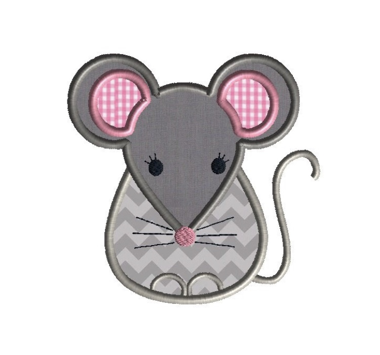 broderie souris