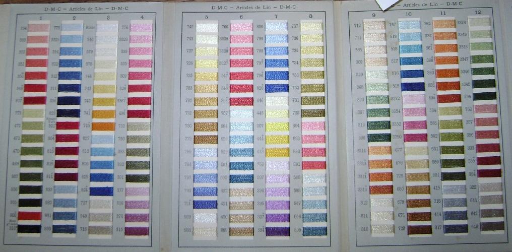 carte de couleur dmc