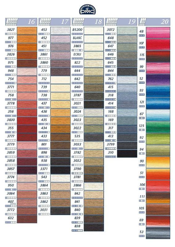 carte de couleurs dmc