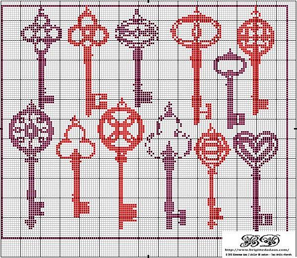 diagrammes point de croix gratuits