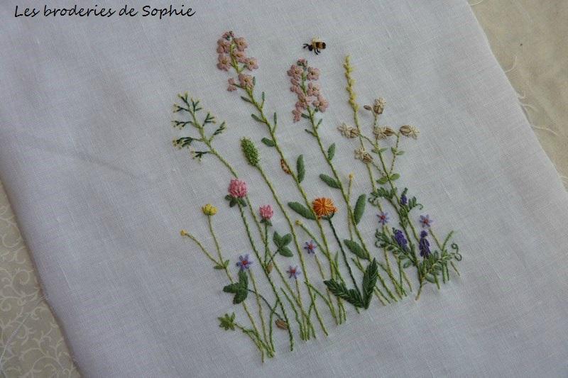 fleurs en broderie