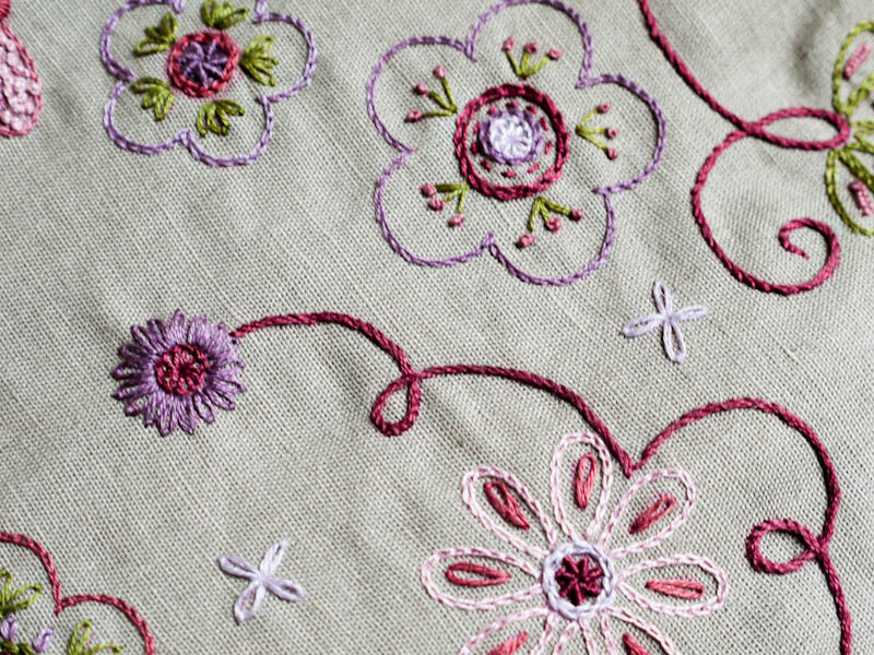 motif broderie traditionnelle