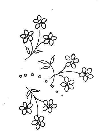 motif de fleurs pour broderie