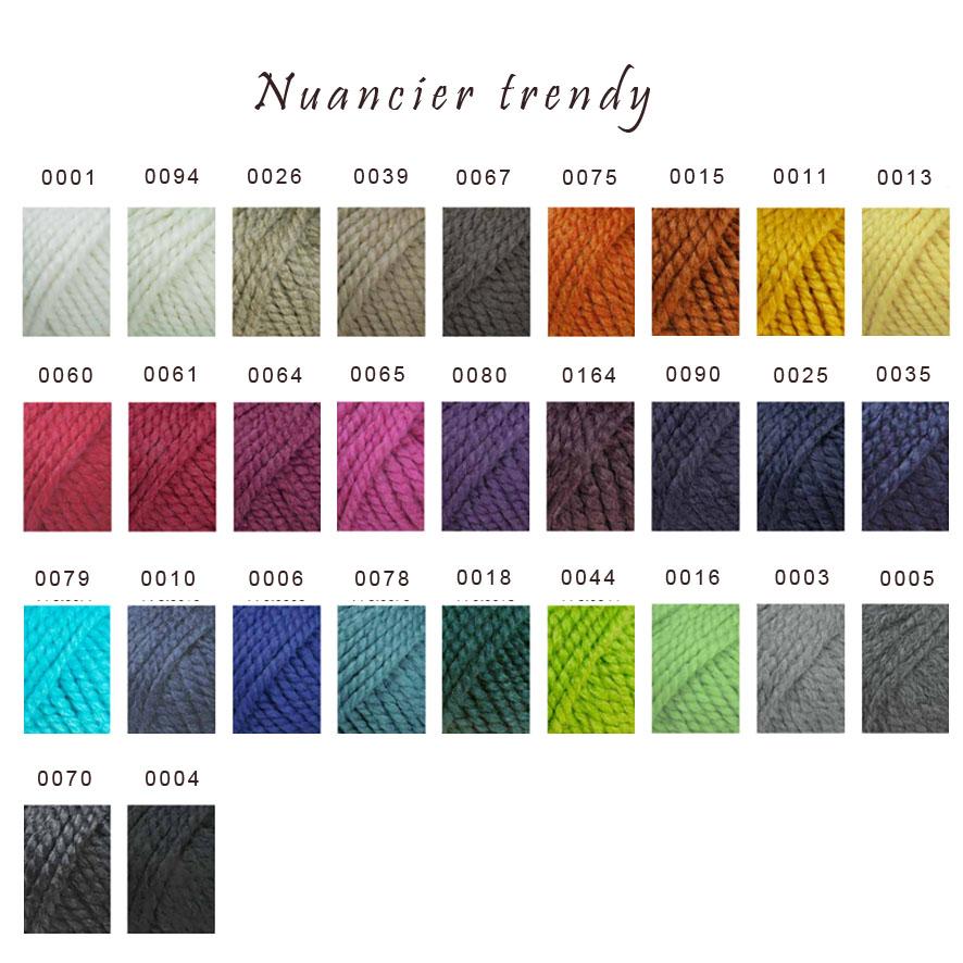 nuancier laine