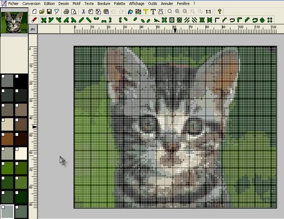 transformer photo en grille point de croix