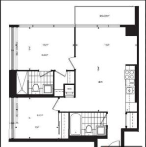 68 Abell St. Unit# LPH02 Epic on Triangle Park Floor Plan